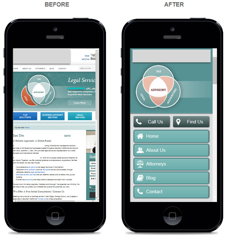 mobile website for lawyers law firms